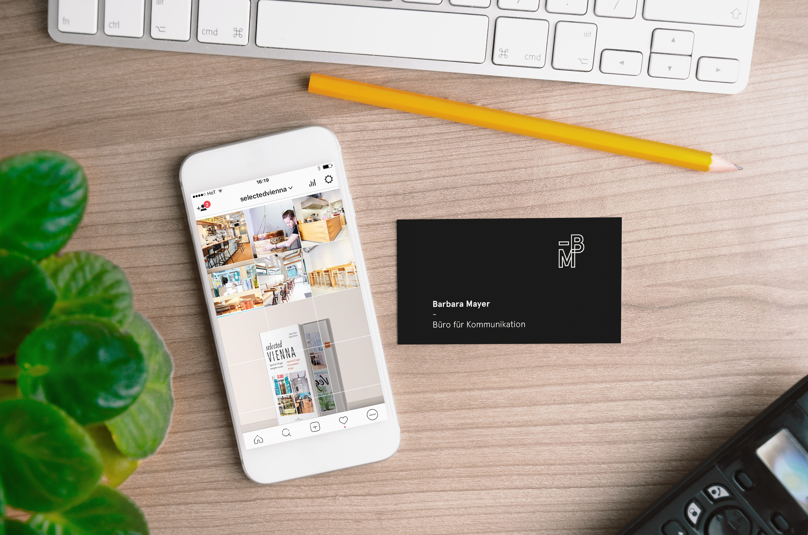 Smartphone with Business Card